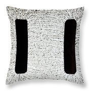 Electrostatic Field Lines Throw Pillow