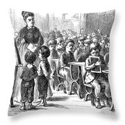 Elementary School, 1873 Throw Pillow
