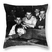 Elementary School, C1890 Throw Pillow