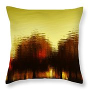 Eleven Shades Of Red Throw Pillow