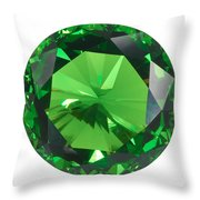 Emerald Isolated Throw Pillow