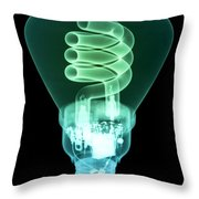Energy Efficient Light Bulb Throw Pillow by Ted Kinsman