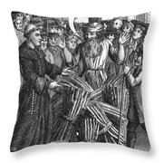 England: Burning At Stake Throw Pillow by Granger