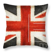 England Flag Postcard Throw Pillow