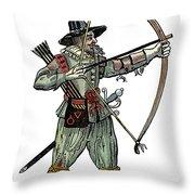English Archer, 1634 Throw Pillow