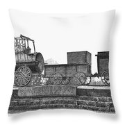 English Locomotive, 1825 Throw Pillow
