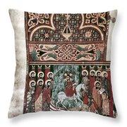 Entry Into Jerusalem Throw Pillow