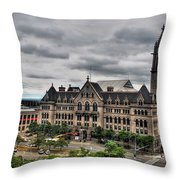 Erie Community College City Campus  Throw Pillow