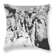 Eroded Sandstone Cliffs Throw Pillow