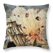 Eruption Of Gamkonora Throw Pillow