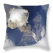 Eruption Of Sarychev Volcano Throw Pillow