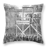 Execution Of Henry Wirz Throw Pillow