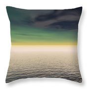 Expanse Of Water And Sky Throw Pillow