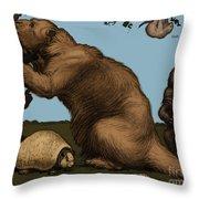 Extinct Fauna Throw Pillow