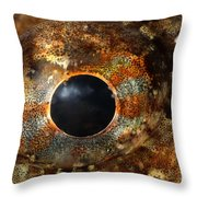 Eye Of Shorthorn Sculpin Throw Pillow