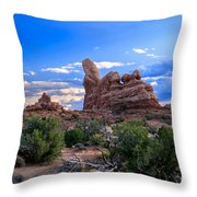 Eye View Of Arches Throw Pillow