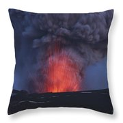 Eyjafjallajökull Eruption, Iceland Throw Pillow