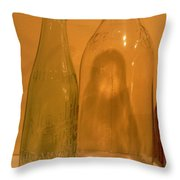 Face In The Bottle Throw Pillow