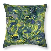 Faces In Abstract Throw Pillow