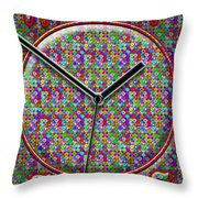 Faces Of Time 2 Throw Pillow by Mike McGlothlen