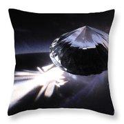 Faceted Quartz Gem Throw Pillow