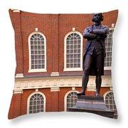 Faneuil Hall Throw Pillow