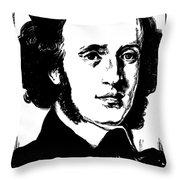 Felix Mendelssohn Throw Pillow by Granger