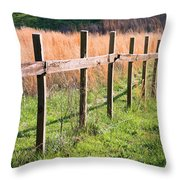 Fence Perspective Throw Pillow