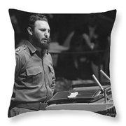 Fidel Castro (1926-) Throw Pillow