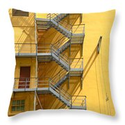 Fire Escape Throw Pillow