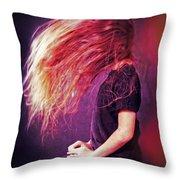 Fire Throw Pillow by Joana Kruse
