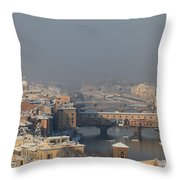 Firenze Under The Snow Throw Pillow