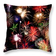 Fireworks Medley Throw Pillow