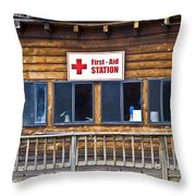 First Aid Station Throw Pillow
