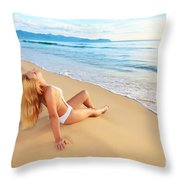 First Sunshine Throw Pillow