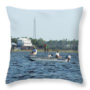 Fishing The Flats Throw Pillow