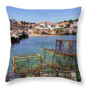 Fishing Traps Throw Pillow