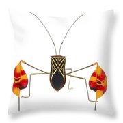 Flagfooted Bug Barbilla Np Costa Rica Throw Pillow