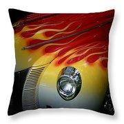 Flaming Beauty Throw Pillow