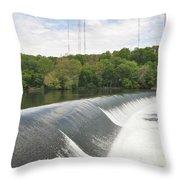 Flatrock Dam Throw Pillow