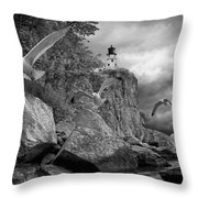 Fleeing The Coming Storm Throw Pillow