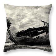 Fleetwood Marsh Wrecks Throw Pillow