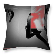 Flight Throw Pillow by Naxart Studio