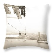 Flight Over The Thames Throw Pillow