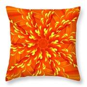 Floral Sunrise Throw Pillow