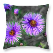 Flower Patterns Throw Pillow