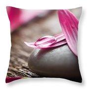 Flower Petals Throw Pillow