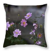 Flowers At The Cloisters Throw Pillow