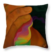 Flowers From This Clay Throw Pillow