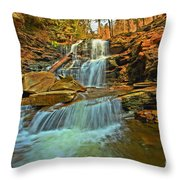 Flowing Down The Mountain Throw Pillow
